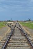 Spår på Auschwitz-Birkenau Royaltyfria Bilder