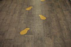 Spår på golvet Royaltyfri Foto