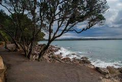 Spår vid havet Royaltyfri Fotografi