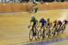 Spåra att cykla - skrapan Arkivfoto