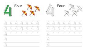 Spårande arbetssedel för diagram 4 vektor illustrationer