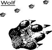 spårar wolfen stock illustrationer