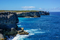 Spårdes Falaises i Guadeloupe Royaltyfria Bilder