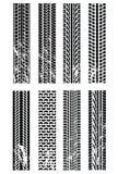 spåriner det olika däck Arkivfoton