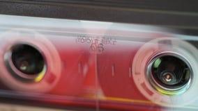 Spåring av kassettmakro stock video