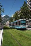 Spårväg i Grenoble Arkivbilder