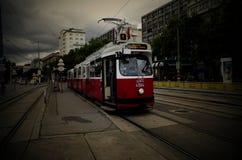Spårvagn av Wien Österrike på Juli royaltyfri fotografi
