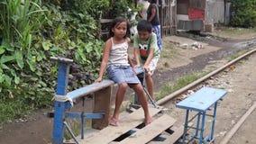 Spårvagn för lekkamratrittjärnväg lager videofilmer