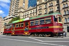 Spårvagn för Melbourne stadscirkel arkivbilder