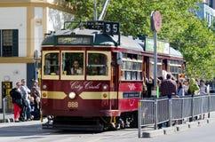 Spårvagn för Melbourne stadscirkel royaltyfria foton