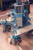 Spårvagn för yrkesmässig kamerautrustning och video Arkivfoto
