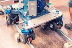 Spårvagn för yrkesmässig kamerautrustning och video Royaltyfria Foton