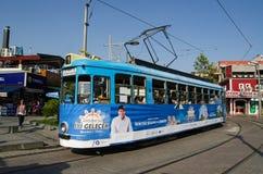 Spårvagn i Antalya, Turkiet Royaltyfria Bilder