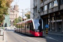 Spårvagn i Belgrade arkivbilder