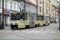 Spårvagn i Bydgoszcz Royaltyfria Bilder