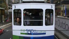 Spårvagn i Hong Kong lager videofilmer