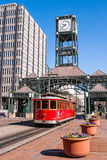 Spårvagn i i stadens centrum Memphis, Tennessee Royaltyfri Bild