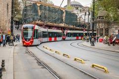 Spårvagn i Istanbul, Turkiet Royaltyfria Bilder