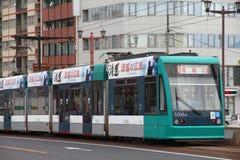 Spårvagn i Japan Arkivfoto