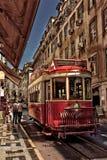 Spårvagn i Lizbon Arkivfoton