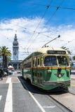 Spårvagn i marknadsgatan, San Francisco Arkivfoton
