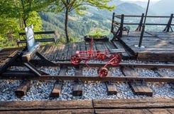 Spårvagn i Serbien Royaltyfria Foton