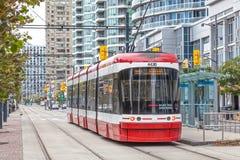 Spårvagn i Toronto, Kanada Arkivfoto