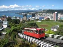 Spårvagn i Wellington Royaltyfri Foto