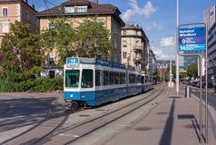Spårvagn i Zurich Royaltyfri Fotografi