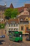 Spårvagn inga 16 i Basel Arkivbilder