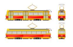 Spårvagn nummer ett vektor illustrationer