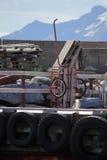 Spårvagn på pir av fågelön Royaltyfria Foton