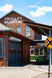 Spårvagn på spårvagnmuseet royaltyfria bilder