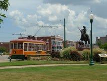 Spårvagn på vägen, Fort Smith, Arkansas Royaltyfri Bild