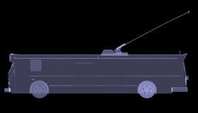 Spårvagn. Röntgenstråle Arkivbild