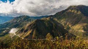 Spårvagn Ton Pass sapa vietnam arkivfoto