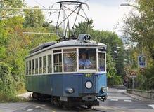 Spårvagn Trieste royaltyfria bilder