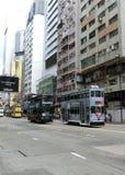 Spårvagnar i Hong Kong Fotografering för Bildbyråer
