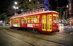 Spårvagnar i New Orleans Fotografering för Bildbyråer