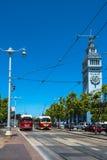 Spårvagnar i San Francisco Royaltyfri Bild
