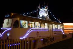 Spårvagnen för Queens Diamond Jubilee på Blackpool, Lancashire, England, UK royaltyfria bilder