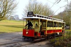Spårvagnen nummer 765 som är drivande i Heaton, parkerar Royaltyfria Foton