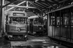 Spårvagnmuseumkorridor Arkivbilder