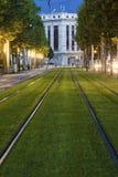 Spårvagnstänger i Grenoble Royaltyfria Foton