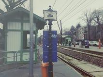 Spårvagnstation Arkivbild
