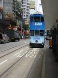 Spårvagnstopp i Hong Kong Fotografering för Bildbyråer