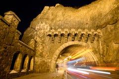 Spårvagntunnel Visegrad Arkivbild