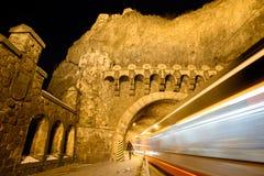 Spårvagntunnel Visegrad Fotografering för Bildbyråer