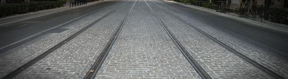 Spårvagnvägen Royaltyfri Foto