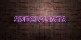 SPÉCIALISTES - tube au néon fluorescent connectez-vous la brique - vue de face - photo courante gratuite de redevance rendue par  illustration stock